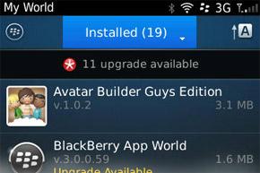 My World in BlackBerry App World