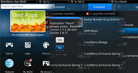 Managing applications using BlackBerry App World 3.0