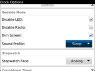 Set the sound profile for Bedside mode