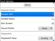 Disable the LED during Bedside mode