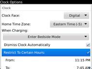 Restrict Bedside mode hours
