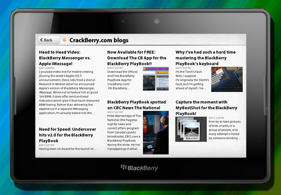 BlackBerry News...not BlackBerry News Feeds