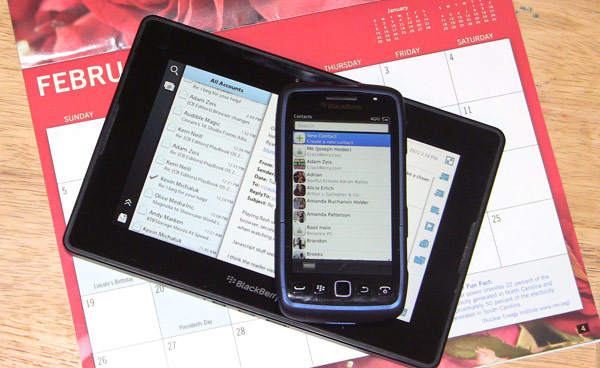 Calendar, Contacts, and the PlayBook