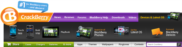 CrackBerry Navbar Devices & Latest OS