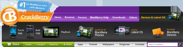 CrackBerry Navbar Devices & Latest OS