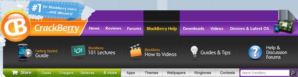 CrackBerry Navbar BlackBerry Help