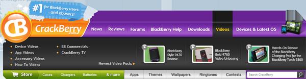 CrackBerry Navbar Videos