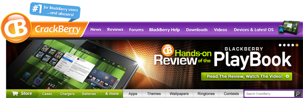 CrackBerry.com Navigation Bar