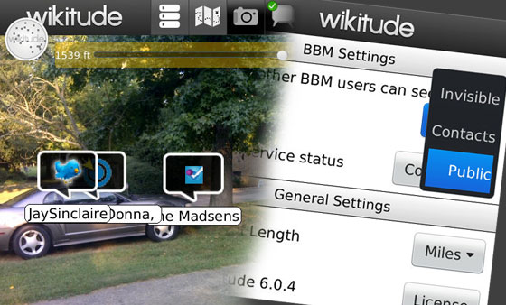 Finding contacts in the Wikitude AR browser is only creepy if you let it be.