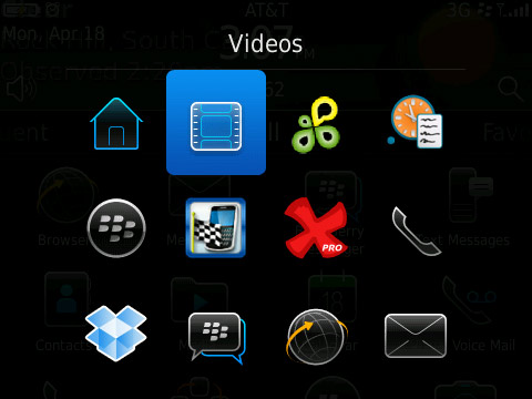 BlackBerry Application Switcher