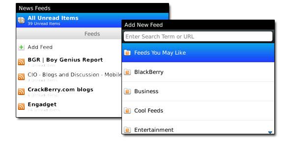 News Reader and adding feeds