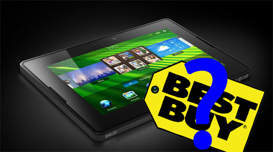 The BlackBerry PlayBook at Best Buy USA?