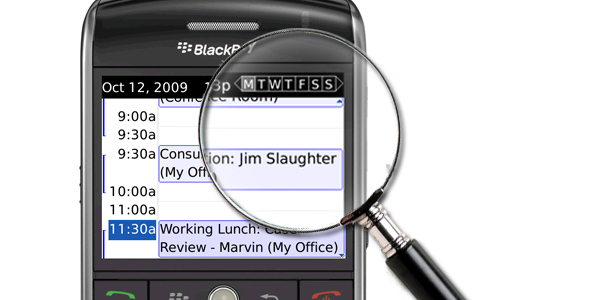 SearchCalendar for BlackBerry