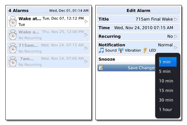 Infinite alarms
