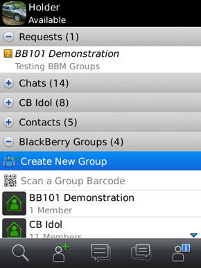 Add a member by email or PIN or BBM