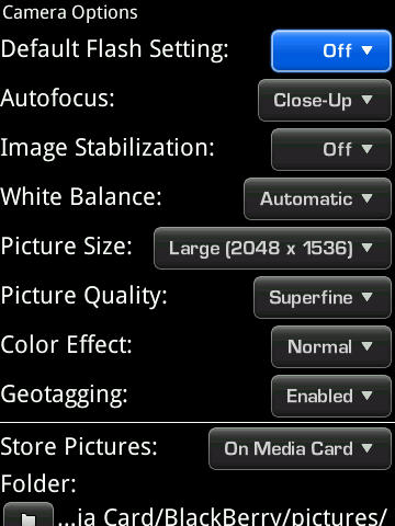Camera options in OS5