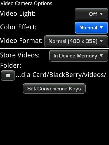OS5 Video camera options