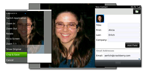Contacts - editing a picture for contact
