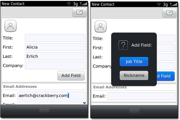 Contacts - Add new contact