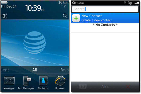 BB101 Contacts and New