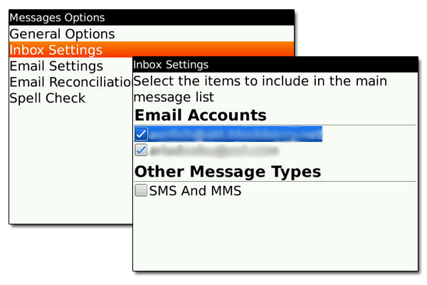 Messages - select which to include - OS Five