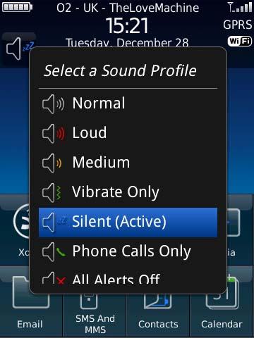 BlackBerry sound profiles