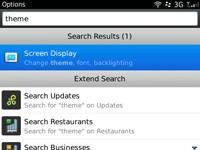 Select Screen display