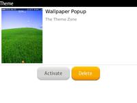Select delete to remove theme