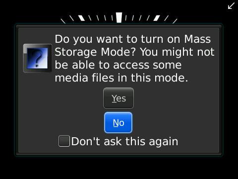 USB Storage on BlackBerry OSFive