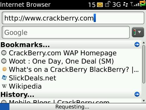 Browser address