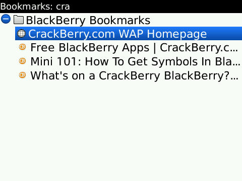 Browser bookmark search