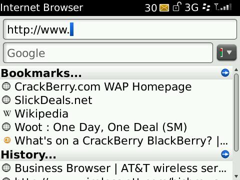 Browser Start