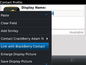 Connect contacts from BBM