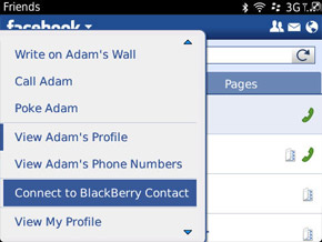 Connect contacts from Facebook