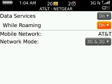 Manage data while roaming