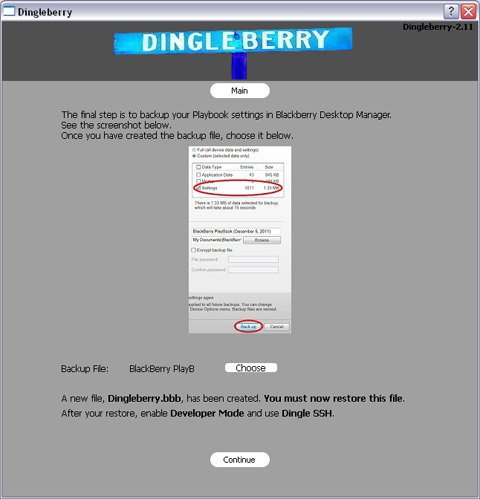 Create a modified backup file using the DingleBerry rooting tool
