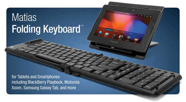 Matias Folding Keyboard for BlackBerry PlayBook