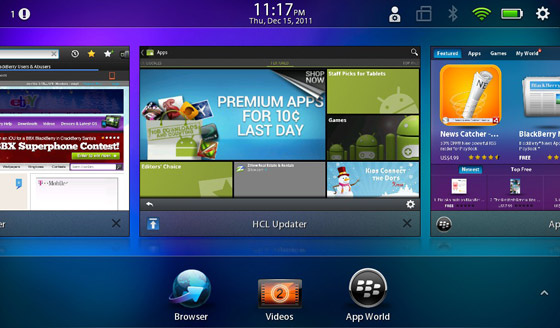 BlackBerry PlayBook running the Android Market