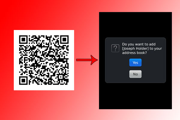 QR code example vCard