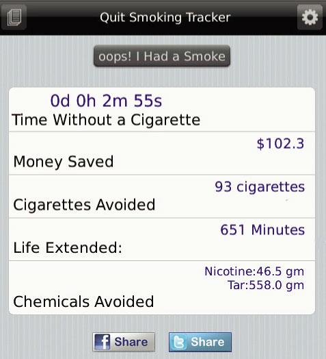 Quit Smoking Home Screen