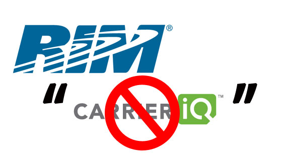 RIM says no CarrierIQ pre-loaded on its Smartphones