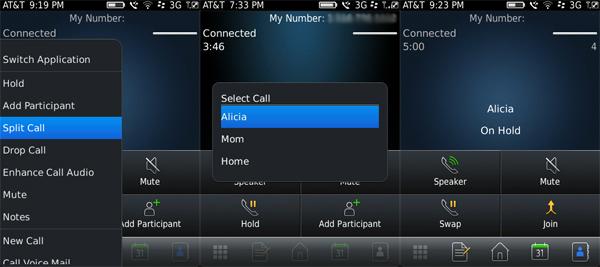 Splitting a call