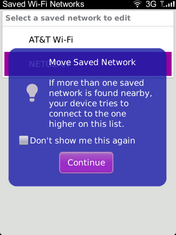 Change Network Order