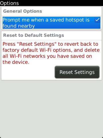 Wi-Fi Options