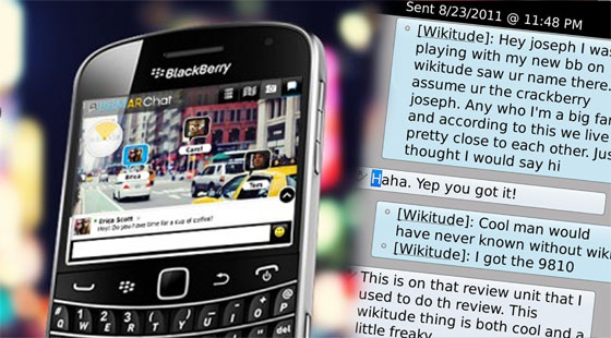 Wikitude AR Browser with BBM in a nutshell