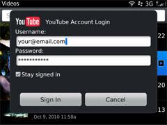 Uploading videos to YouTube from your BlackBerry | CrackBerry com