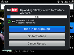 Video is uploading to YouTube