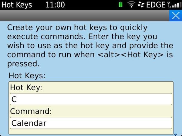 Hot keys