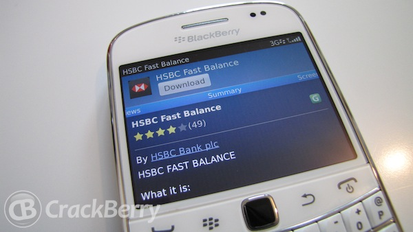 New HSBC Fast Balance app for BlackBerry Smartphones | CrackBerry com