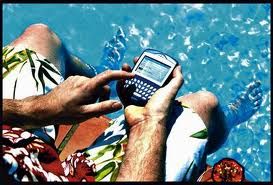 BlackBerry at the pool